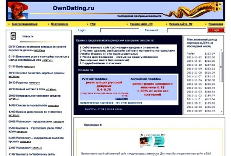 Описание:Партнерская программа - создание собственного сайта международных