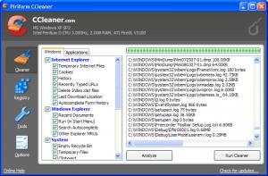 ccleaner очистка