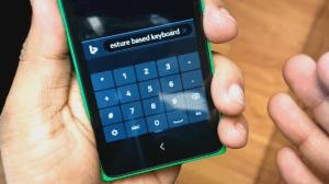 Nokia X клавиатура